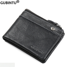 Men's Genuine Leather Zipper Business Wallet Fashion Brand Credit Card Holder Me