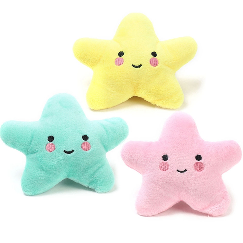 Plush Star Shape Toy  Sound Toy Moon Star Playing Fun Toys