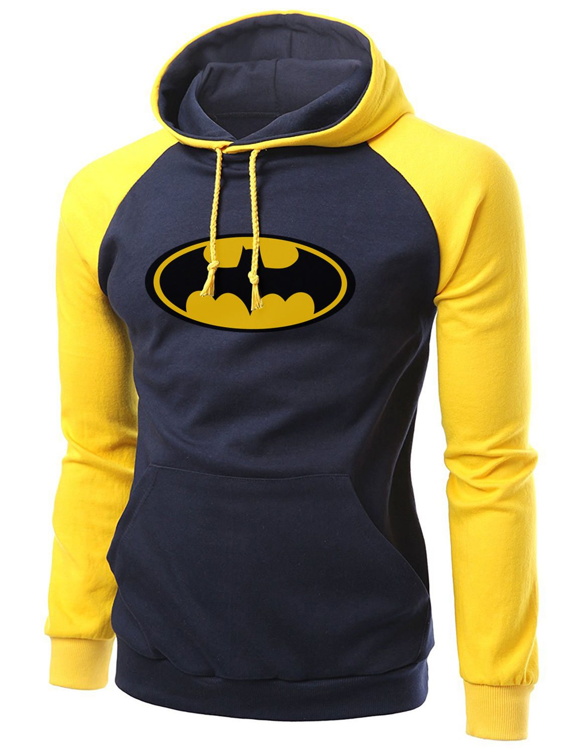 Super Hero Batman logo printed Raglan Hoodies Sweatshirts Men 2019 Hot Spring Fleece Men's Tracksuit Slim Fit Hip Hop Streetwear