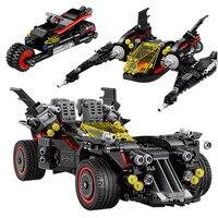 07077 1496Pc Batman Movie The Ultimate Batmobile Bat Motorcycle Fighter Building Blocks Bricks Toys 70917