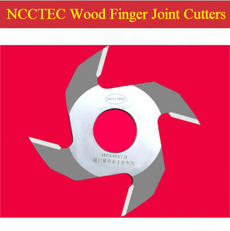 ФОТО 6.4'' 160mm NCCTEC carbide Wood Finger Joint Cutting tools NWJ16064 | 160*4T*6*40*40 mm FREE shipping
