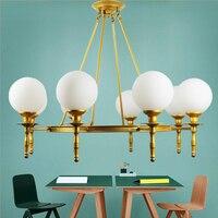 Nordic пост современный потолочный светильник просто гостиная лампы Атмосфера Золотой magic bean лампа спальня ресторан исследование освещения