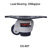 4PCS CD 60T Level Adjustment Nylon Wheel And Triangular Plate Leveling Caster Industrial Casters Load Bearing