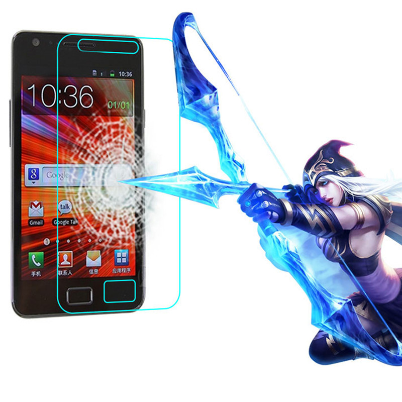 Premium 0.3mm 2.5D Tempered Glass Film Explosion Proof Screen Protector For Samsung Galaxy S2 GALAXY SII I9100 Film