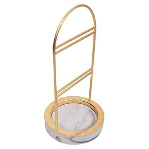 Image 5 - 4 Style marbrure résine rétro nordique bijoux organisateur présentoir boucles doreilles support Vintage salle compteur vitrine bijoux emballage
