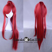 Japanese Anime FAIRY TAIL women Erza Scarlet cosplay wig role play Erza Scarlet high ponytail hair costumes