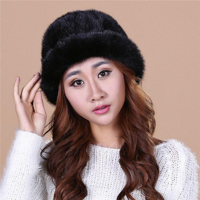Мода дамская новая осень и зима норки норки шляпа вязаная шапка зимы детей утолщение теплая зима hat freeshippingSD15
