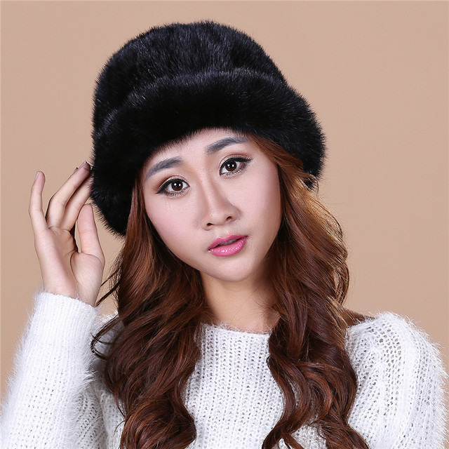 Fashion Lady's The new autumn and winter  mink fur mink hat knit cap children winter thickening warm winter hat freeshippingSD15