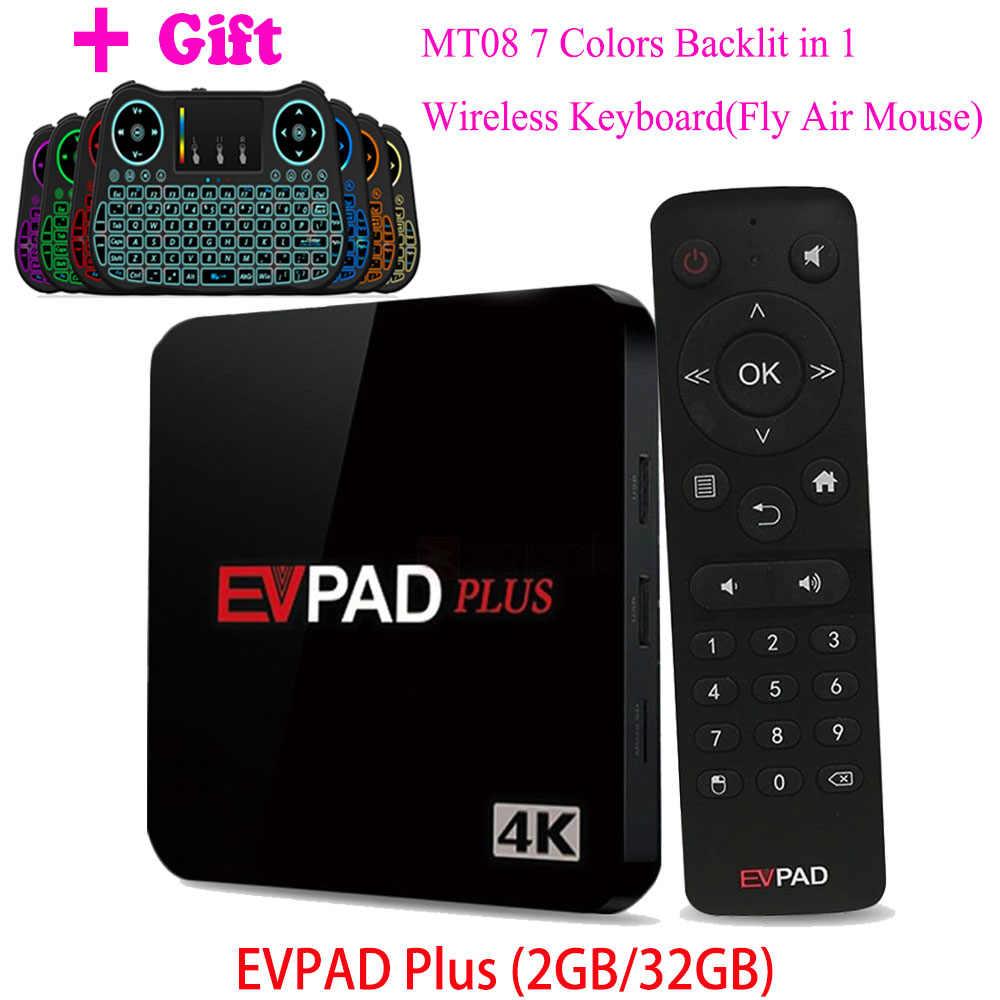 EVPAD PLUS PRO+ 2S+ IPTV Android Smart TV Box: 1150+ Korea Japan Malay SG  HK TW Thailand CN Vietnam Sports Free TV Live Channels