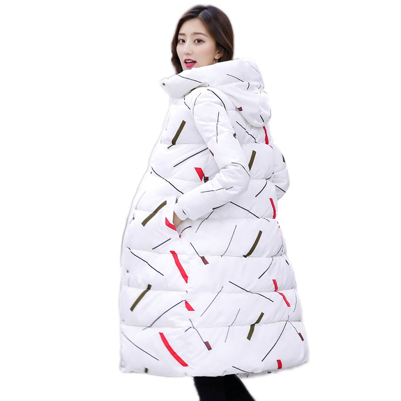 Winter Women Outerwear 2018 New Large Size Mid-Long Female Down Cotton Jacket Over Knee Slim Hooded Fashion Ladies   Parkas   Cw048