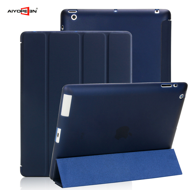 Case For Apple iPad 2 3 4 aiyopeen Ultra Slim PU Leather Flip Cover Soft TPU Back Magentic Smart Case For iPad 2 3 4 A1430 A1460