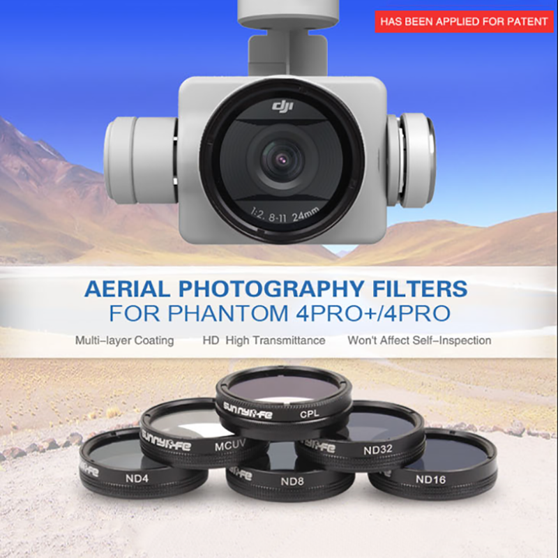 Sunnylife DJI Phantom 4PRO (+) Gimbal Camera MCUV CPL ND4 ND8 ND16 ND32 High Definition Lens Filter Multi-layer Coating Filters
