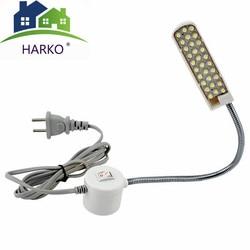 2018 Portable Sewing Machine LED Light 2W 30LED Magnetic Mounting Base Gooseneck Lamp for All Sewing Machine Lighting US/EU Plug