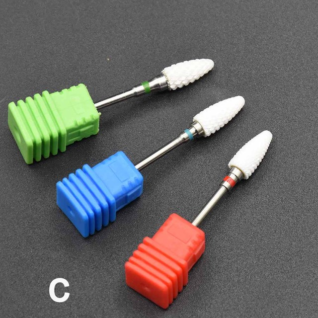 Jewhiteny Ceramic Nail Drill Bit Milling Manicure Cutter For Electric Nail Drill Manicure Machine Device Nail art Accessory Sets