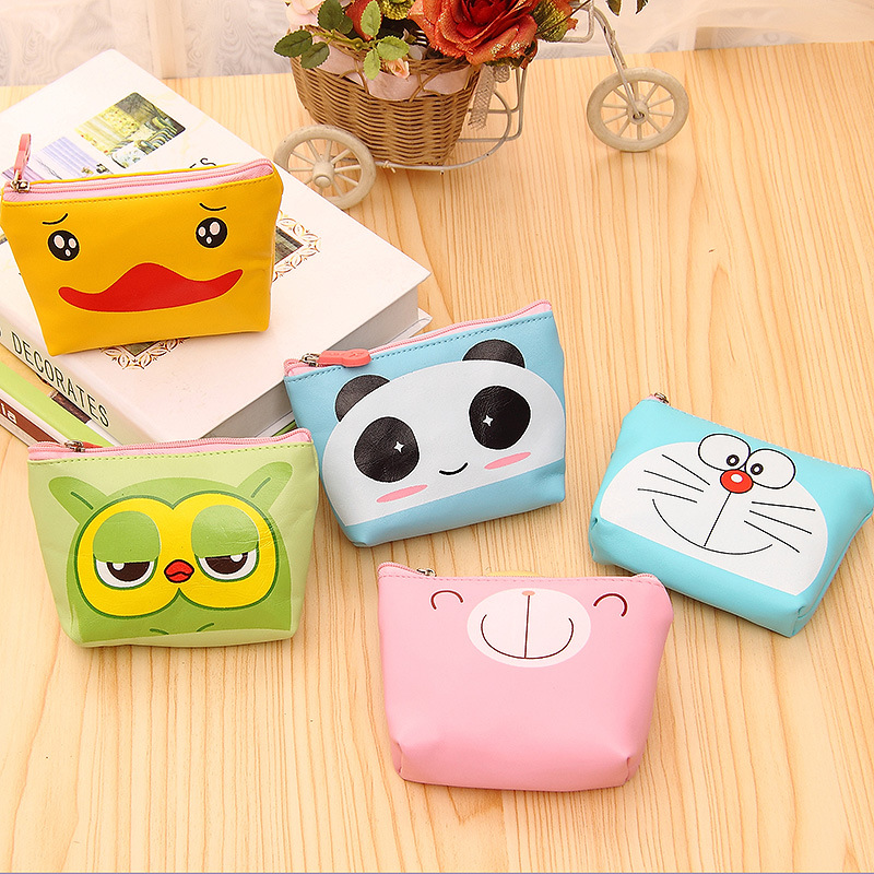 2016 New Arrival 13.5x3.5x9.5CM Cartoon Mini PU Coin Purse Key Bag Coin Wallet Gift for Children Kids Baby 2015 new arrival kids rabbit animal pattern wallet children baby purse women girl coin bag key pouch for birthday gift