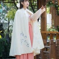 2019 New Large size Ethnic style vintage Elegant Cloak Autumn Winter Warm thick Hanfu embroidered Shawl coat cc642
