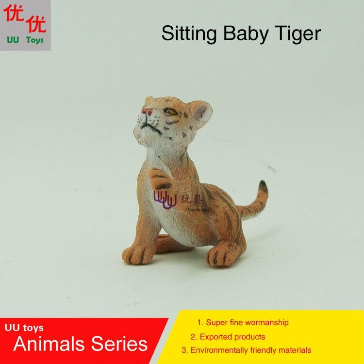 Горячие игрушки: ребенок сидит тигр моделирование модели Животные детские игрушки образования детей реквизит
