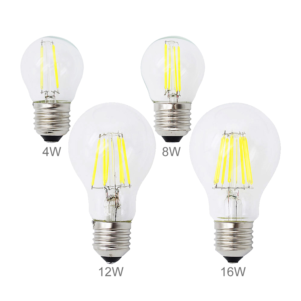 dimmable e27 led bulb 2w 4w 8w 12w 16w edison filament cob lamp 360 degree 220v 230v retro globe. Black Bedroom Furniture Sets. Home Design Ideas