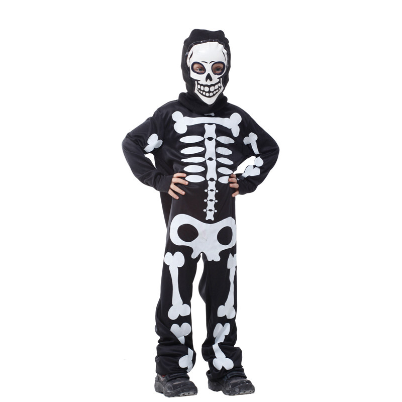 Carnival halloween skull skeleton costumes for kids boys girls child children party anim ...