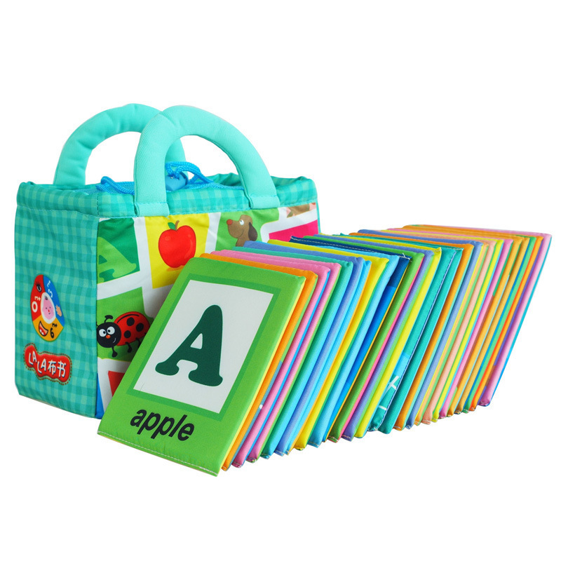 26pcs/set Baby Early Educational Toys Baby Book Alphabet Cloth Book Quiet For Kids English Learning Bebe Identify Animals