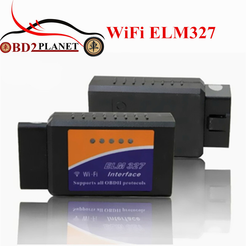 2017 New Arrival WiFi ELM327 OBD2 Scanner Wireless Auto Scanner Adapter ELM 327 WIFI OBDII Dignostic Tool Fast Shipping