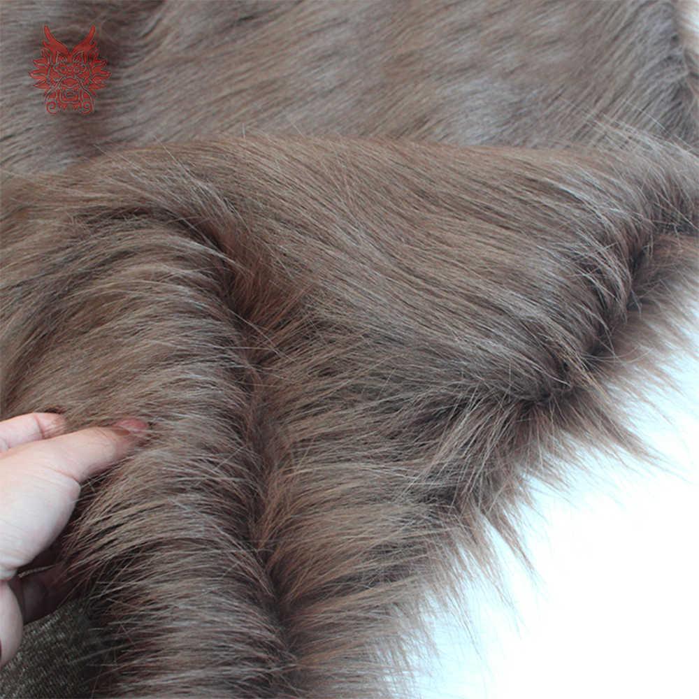 Wysokiej klasy 9cm długie włosy kawy tkanina sztuczne futro na płaszcz zimowy kamizelka cosplay wystrój sceny darmowa wysyłka 150*50cm 1 sztuka SP3759