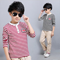 4~12 years old kids big boys fall clothing sets long sleeve striped cotton t -shirt tops pants casual 2016 new autumn 2 pcs kit