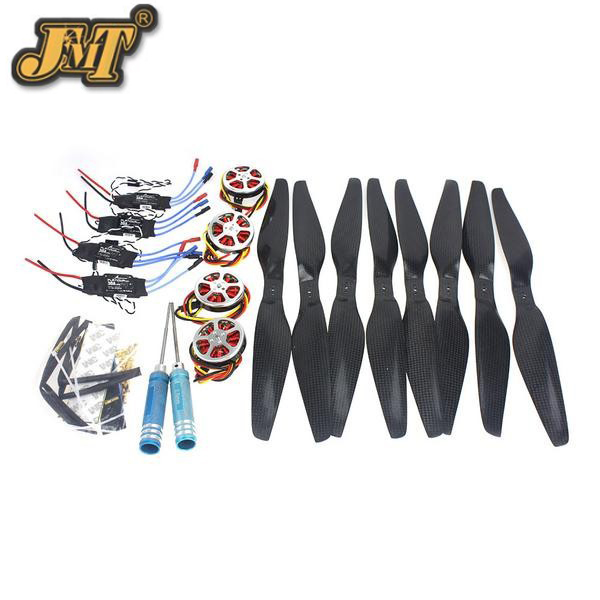 JMT 4-Axis Foldable Rack RC Quadcopter Kit +750KV Motor+14x5.5 Propeller+30A ESC+ KK Connection Board 4set lot universal rc quadcopter part kit 1045 propeller 1pair hp 30a brushless esc a2212 1000kv outrunner brushless motor