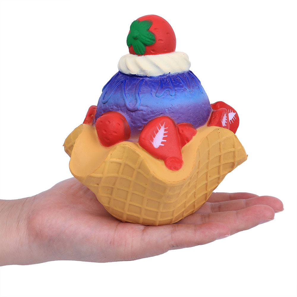 Relax Toy Strawberry Cake Scented Super Slow Rising Kids Toy Stress Reliever Toy 13cm Squishies Soft Scented Interesting D300110 To Have A Unique National Style Squeeze Toys