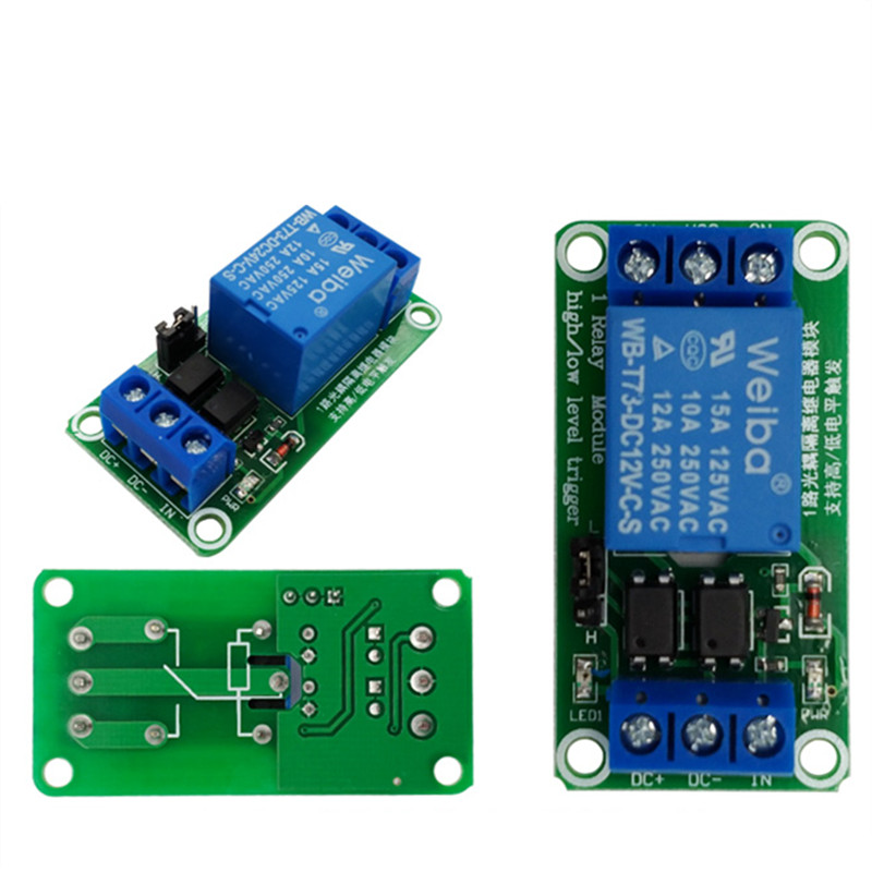 one 1 channel relay module 5V 12V 24V high and low level trigger relay control with optocoupler electric relay unit high liquid water level controller sensor relay module detection 9 12v control high current relay
