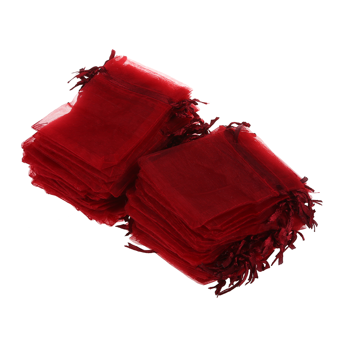 100 Pcs Red Color Jewelry Packaging Gift Bag Organza Pouches