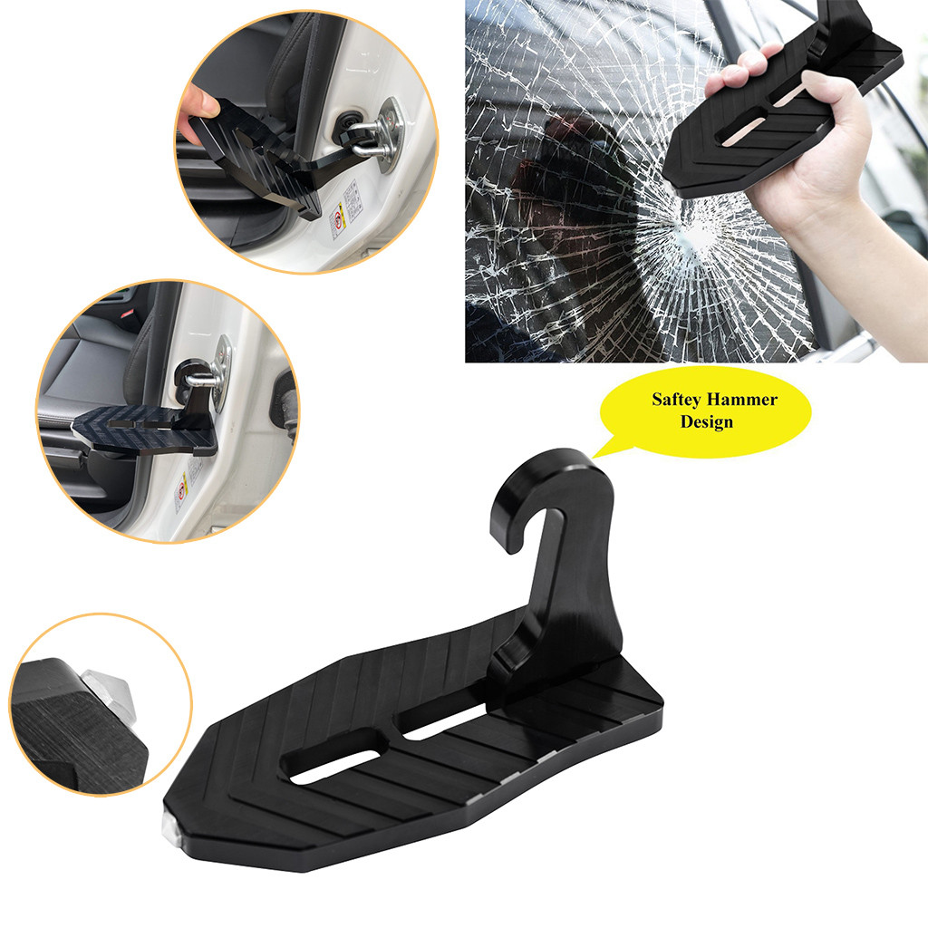 2019 New Fashion Black Aluminum Alloy Load Bearing Car Roof Auxiliary Pedal Anti-skid Surface For Car SUV