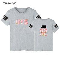 Gray BTS Bangtan Boys T Shirt Women Summer 2018 Sexy And Fans T Shirt Feminine Print