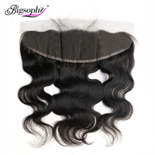 Bigsophy Malaysian Hair Body Wave Closure 13*4 Human Hair Lace Frontal Closure 100% Human Remy Frontal 8-20 Inch Natural Color 8a free shipping malaysian body wave 4 by 4 inch lace frontal closure with 2 bundles body wave hair weft black bouncy nlwhair