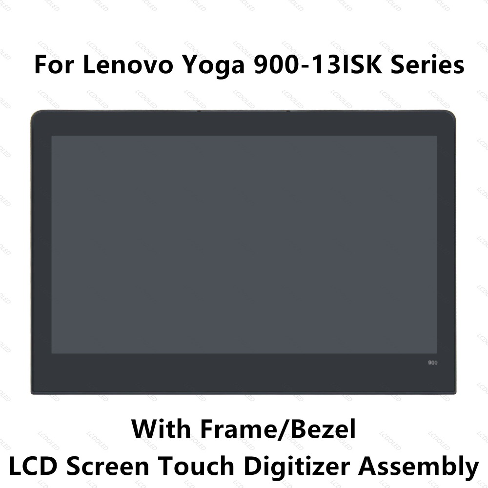 13.3'' Full LED LCD Display Panel Touch Screen Digitizer Glass Assembly with Frame / Bezel For Lenovo Yoga 900 13ISK 3200x1800 black grade a lcd display touch digitizer complete screen with frame full assembly replacement for iphone 6 6s iphone 6 6s plu