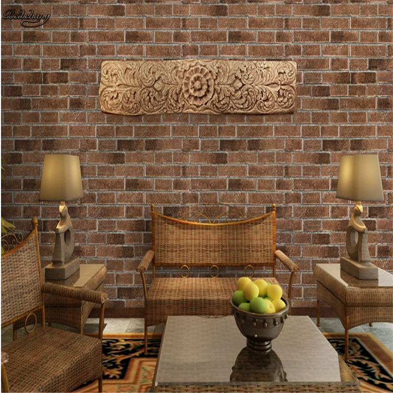 beibehang 3D stereo antique brick retro brick pattern brick wallpaper Chinese restaurant living room TV background wall PVC