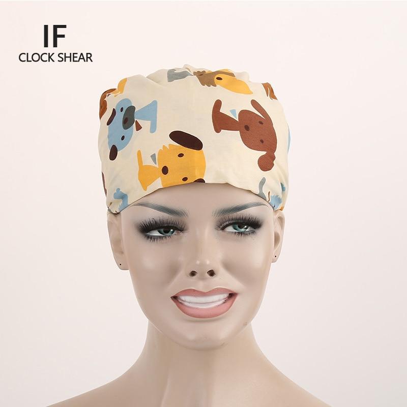 IF new cotton Pet doctor hat men and women beauty salon work cap Operating room hat doctor nurse dental caps