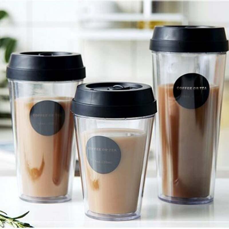 88aa022d2d6 320/420/520ml Transparent Coffee Mug Simple Milk Cola Juice Mug Coke  Beverage Cup
