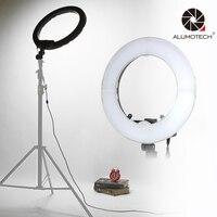 ALUMOTECH 13 LED Ring light Bi color Dimmable Step less 40W LED SMD Circle Light For Camera Video Studio