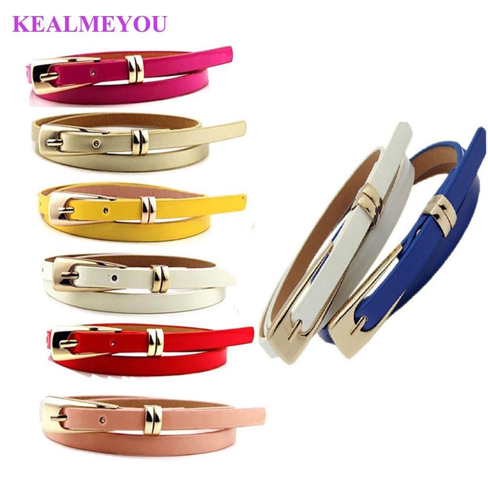 1 Pcs Fashion Women Skinny Waist Belt Lady Girl Thin Leather Narrow Waistband Belt ремень женский