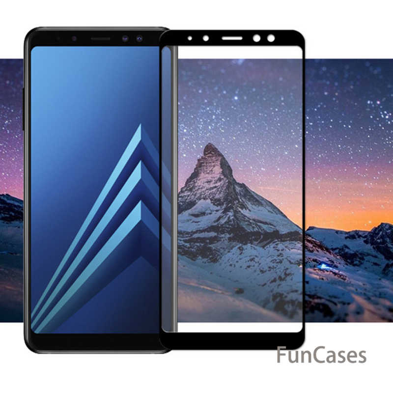 زجاج واقي لسامسونج غالاكسي A8 2018 حالة غطاء الزجاج المقسى على لسامسونج A8 زائد 2018 8 A8Plus A530 a8 + 8A 3D فيلم