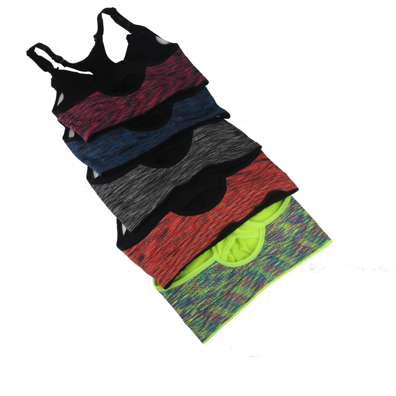 c27ec2e094965 Black Gray Purple Red Green Women Sports Bra Top Absorver Sweat Yoga  Fitness Seamless Cup Bra Padded Push Up Top Vest Size M L-in Sports Bras  from Sports ...