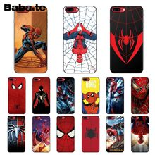 Babaite Marvel Comics Spider Man Homecoming Silicone Phone Case Cover for Apple iPhone 8 7 6 6S Plus X XS MAX 5 5S SE XR Cover spider man into the spider verse for funda iphone xs max case cover for case iphone 6s plus 5 5s se 6 7 8 plus xr x cases cover
