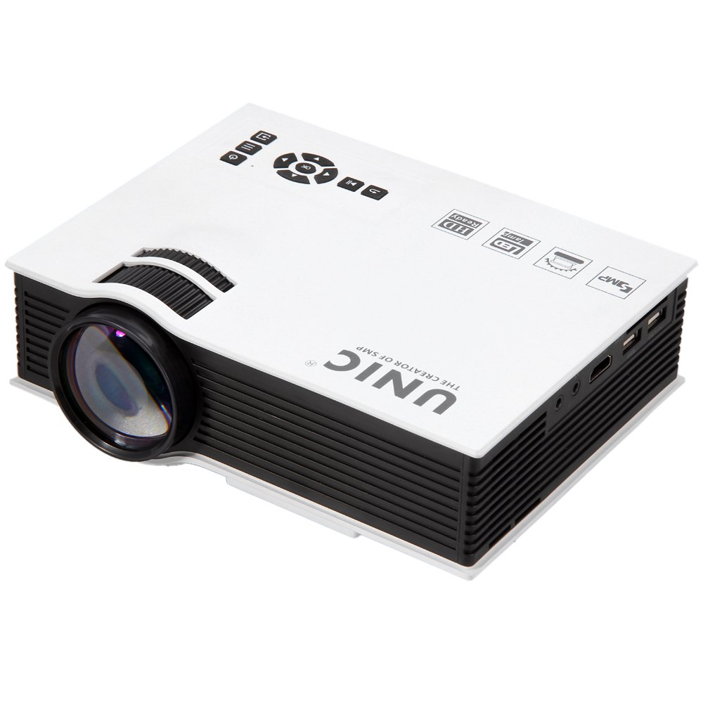 UNIC UC40 Mini Pico Portable 3D Projector HDMI Home Theater Beamer Multimedia Proyector Full HD 1080P Video Projector