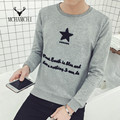 MCHAMCHI Star Letters Embroidery 2017 Spring Autumn Fashion Tops Harajuku Cotton Long Sleeve Casual Mens T Shirt Plus Size 5XL