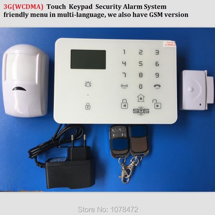 Wireless Wired House 3G Alarm GSM Touch Keypad Panic Alarm King Pigeon K9 WCDMA alarm SMS Home Security Voice Burglar alarm