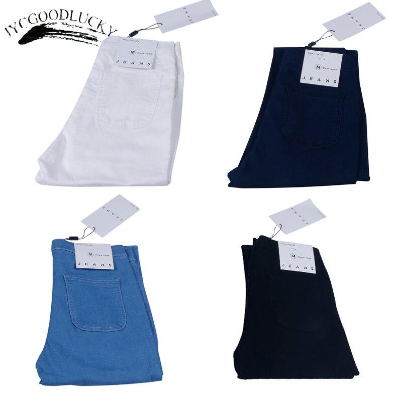 Women Stretch Black Skinny Jeans With High Waist Denim Blue Ladies Push Up White Jeans 13