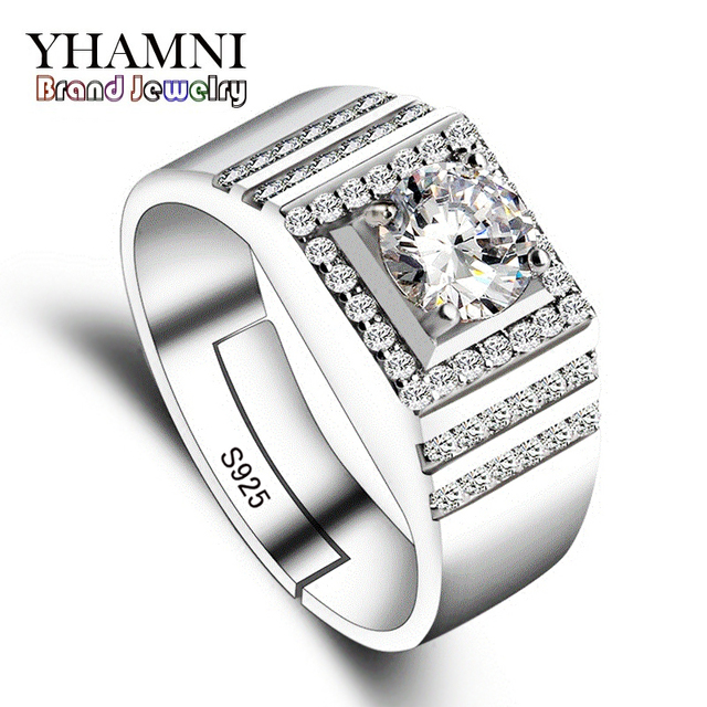 YHAMNI Have Silver Certificate Real Solid 925 Sterling Silver Rings