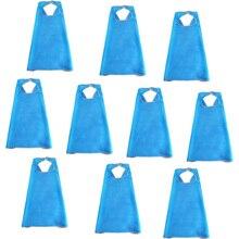 10 PCs SPECIAL 70*70 cm Light Blue Capes Costume Festival Celebration Party Gifts Queen Cape Halloween Superhero Costumes