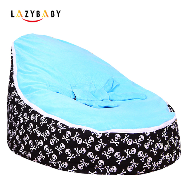 Lazybaby Medium Skull Baby Bean Bag Chair Kids Bed For Sleeping Portable Folding Newborn Babies Seat